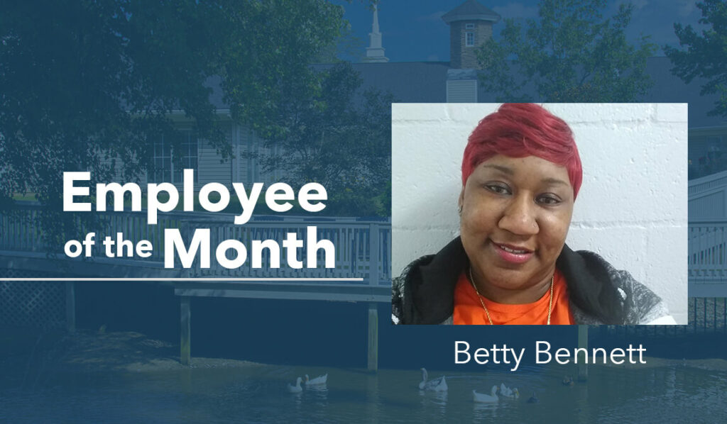 Betty Bennett The Springs Employee of the Month