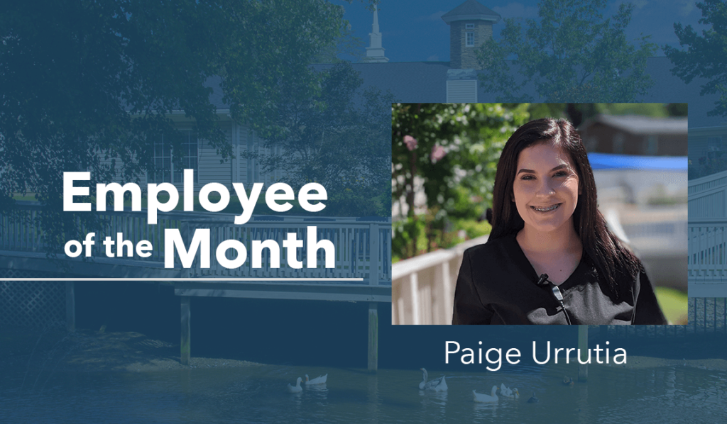 Simpsonville Assisted Living Employee of the month